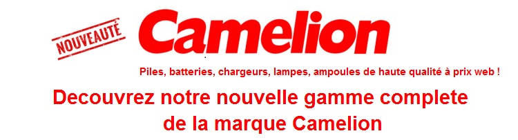 Decouvrez notre gamme de produits Camelion