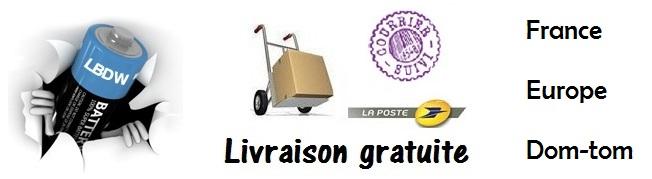 Livraison gratuite en France, Europe et dom-tom