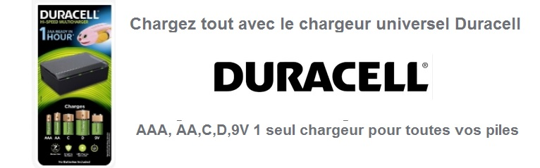 Chargeur universel Duracell CEF22