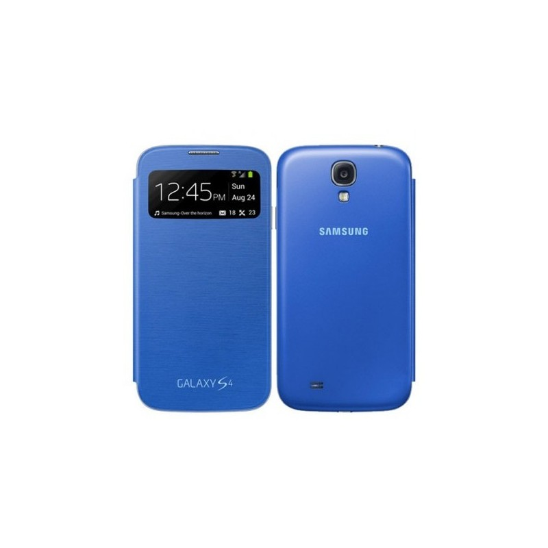 Housse coque samsung s view cover pour galaxy s4 bleu for Housse samsung galaxy s4